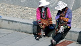 China. Market women in the street.
