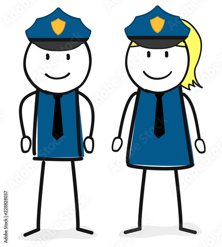 Polizei / Beruf / Uniform / Mann / Frau - 228828037