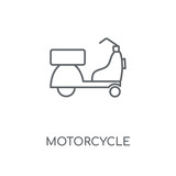 Motorcycle linear icon. Motorcycle concept stroke symbol design. Thin graphic elements vector illustration, outline pattern on a white background, eps 10.
