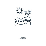 Sea concept line icon. Linear Sea concept outline symbol design. This simple element illustration can be used for web and mobile UI/UX.