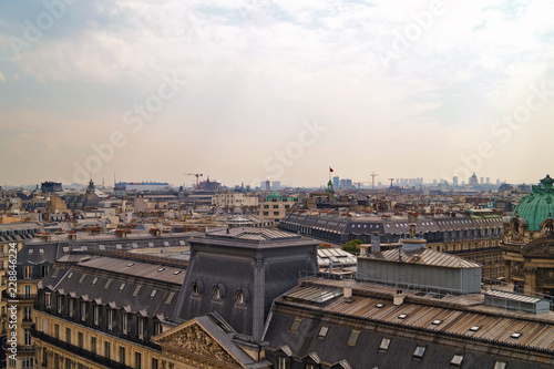 Poster view of the Paris roofs