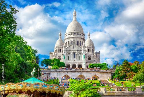 Leinwanddruck Bild Basilica Sacre Coeur