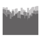 cityscape buildings silhouette icon - 228851462