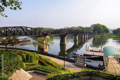 Landscape View Of The Death Railway Bridge Over River Kwai