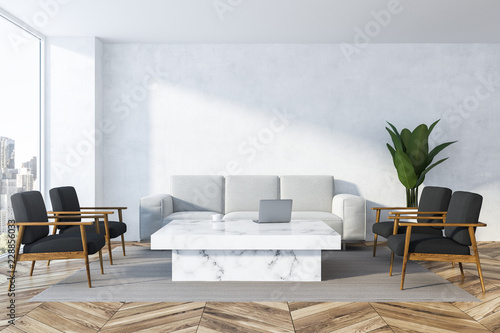 White living room, white sofa
