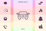 Car symbol line icon . Graphic elements for your design