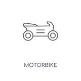Motorbike linear icon. Motorbike concept stroke symbol design. Thin graphic elements vector illustration, outline pattern on a white background, eps 10.