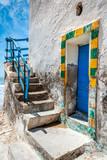 Blue door of an ancient semaphore