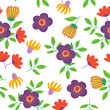 decorative floral seamless pattern - 228877876