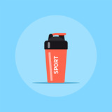 Fitness shaker icon