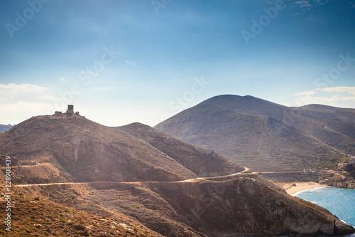 Leinwanddruck Bild Greek coastline on Peloponnese, Mani Peninsula