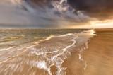 rainy sky over stormy North sea coast - 228912015