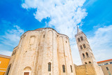 Croatia, Dalmatia, Zadar, saint Donatus (Sveti Donat) church, mediterranean cityscape - 228914617