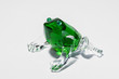 glass green frog