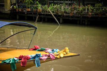 Traditional river boat in  Bangkok, Thailand