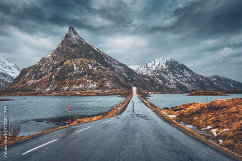 Fototapeta Drogowego w Norwegii