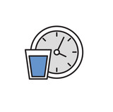 Drink water regularly. Colorful flat vector illustration. Isolated on white background. - 228985266