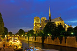 Notre Dame de Paris at night - 228988477
