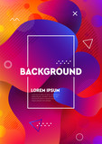 Abstract liquid colors background. Fluid shapes vector trendy gradients. Colorful graphic illustration. Geometric background molecule communication. - 229006262