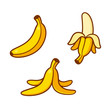 Cartoon bananas illustration set - 229028866