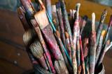 Old paintbrush closeup - 229029881