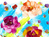 Abstract flowers, creative abstract hand painted background