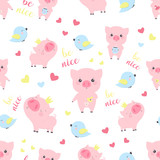 pattern with pigs
