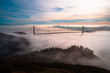 Golden Gate Bride With Low Fog
