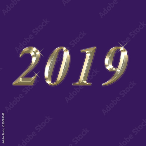 2019 happy new year background for posters invitations menu covers book covers and