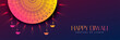 happy diwali beautiful decorative banner design - 229102260