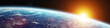 Leinwanddruck Bild - Panorama of distant planet system in space 3D rendering elements of this image furnished by NASA