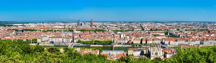 Panorama of Lyon from the Fourviere hill. France © Leonid Andronov
