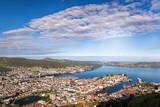 Beautiful panorama of Bergen from Floyen in Norway - 229147833