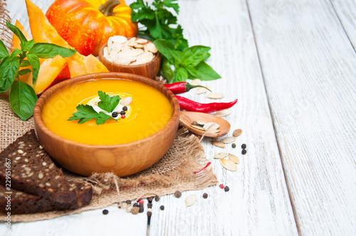 pumpkin soup - 229151667
