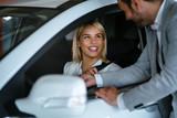 auto business, car sale, consumerism and people concept
