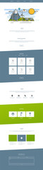 Website Design Template Ecological Theme Vector illustration mobile website design and development. Creative concept, easy to edit and customize. © Droidworker