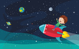 Vector Illustration Of Space Background - 229190425