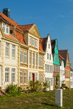 Historic facades at the harbor of Glückstadt, Germany - 229205485