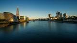 time lapse of sunrise, London skyline from the Tower Bridge, UK