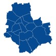 Map of Warsaw - 229259635