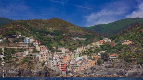 View of the village of Riomaggiore in Cinque Terre, Italy