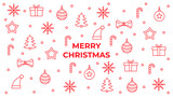 Merry christmas red icons