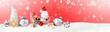 Leinwanddruck Bild - Schöne Weihnachtsdeko