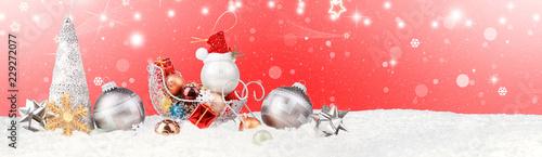 Leinwanddruck Bild Schöne Weihnachtsdeko