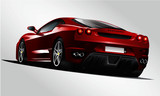 sport car modify sticker decal elegant stripe isolated on white - color paint, tinted glass - front-right side view vector template illustration luxury transport