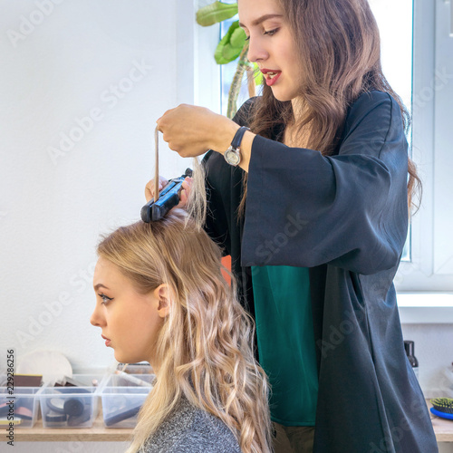 the creation of a fashionable hairdresser hair stylist