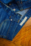 old unbuttoned jeans - 229316275