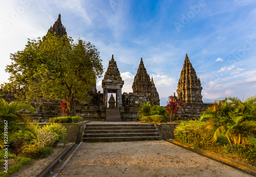 Leinwanddruck Bild Prambanan temple near Yogyakarta on Java island - Indonesia