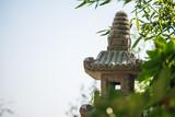Steinpagode im Japanischen Garten