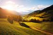 Leinwanddruck Bild - Magic image of alpine hills in Santa Magdalena village.